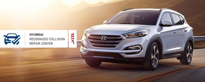 Xcel Collision Center is a Hyundai Recognized Collision Repair Center.
